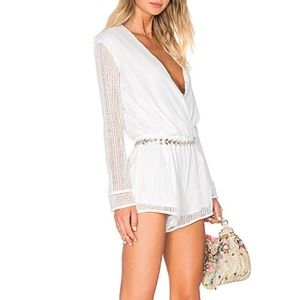 White long sleeve romper by Endless Rose NWT